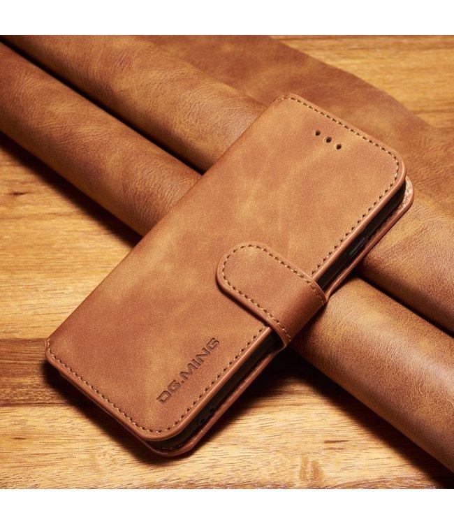 DG-Ming Leren Wallet Case - iPhone 6(s) - Retrostijl - Bruin - DG-Ming.