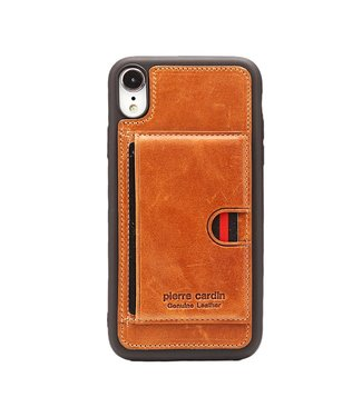 ZWC Leren/TPU soft cast - iPhone XR - Bruin - Pierre Cardin
