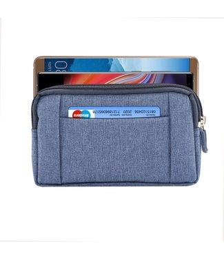 ZWC Outdoor tasje - Jeans stof - 5.5 tot 6.3 inch.