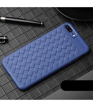 ZWC TPU sofcase - iPhone 7/8 Plus - Geweven textuur - Donker Blauw - USAMS