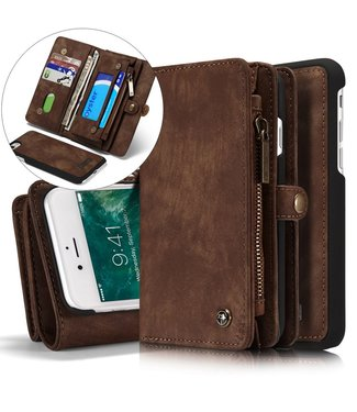 Caseme 2 in 1 Leren Wallet + Case - iPhone 7/8 - Bruin - Caseme