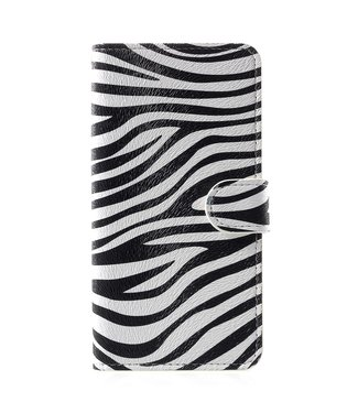 ZWC Leren Wallet Case - iPhone XR - Zebra print