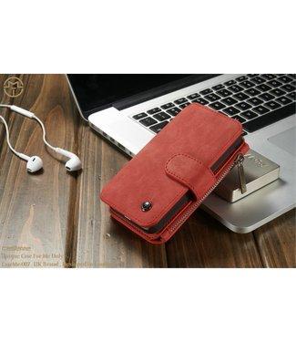 Caseme 2 in 1 Leren Wallet + Case - iPhone 5(s)/SE - Rood - Caseme