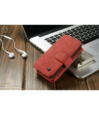 Caseme 2 in 1 Leren Wallet + Case - iPhone 5(s)/SE(2016) - Rood