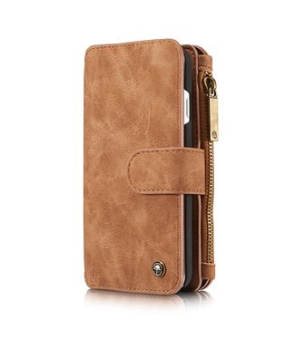 Caseme 2 in 1 Leren Wallet + Case - iPhone 7/8 - Bruin- Caseme