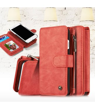 Caseme 2 in 1 Leren Wallet + Case - iPhone 7/8 - Rood - Caseme