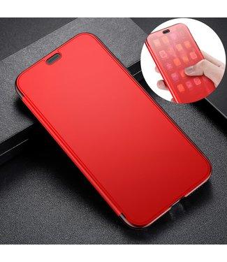 Baseus TPU Softcase met doorschijnend venster - iPhone XR - Rood