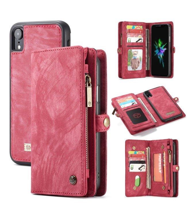 Caseme 2 in 1 Leren Wallet + Case - iPhone XR - Rood - Caseme