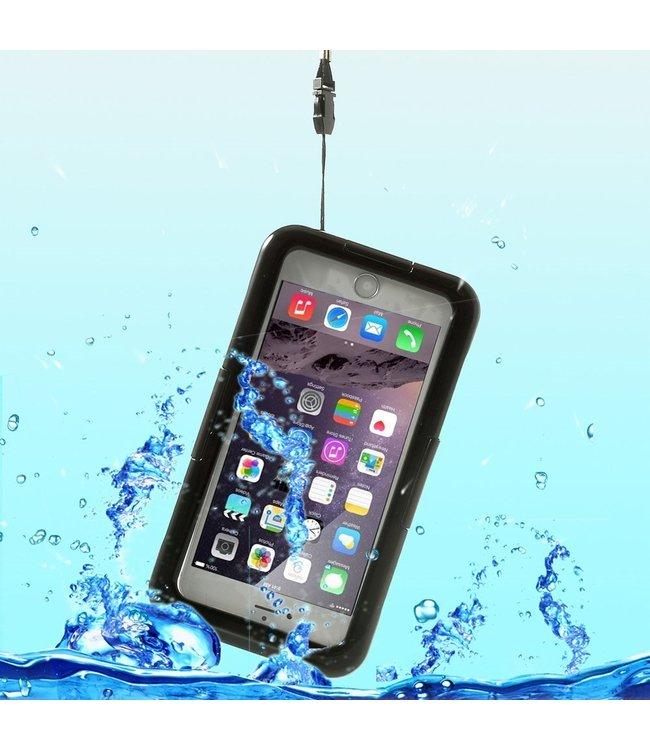 ZWC Water Proof Case - IP 68 - iPhone 6(s)/7/8 Plus - Zwart