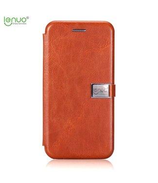 Crazy Horse PU Leren Wallet Case - iPhone 7/8/SE 2020- Bruin - Lenuo - Crazy Horse
