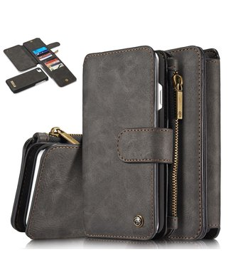 Caseme 2 in 1 Leren Wallet + Case - iPhone 7/8/SE 2020 - Zwart - Caseme