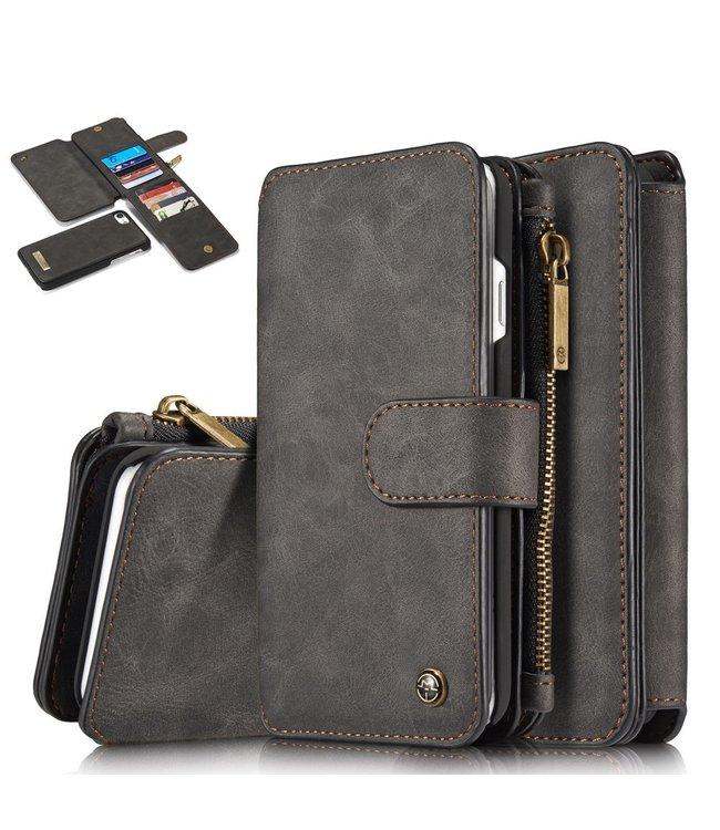 Caseme 2 in 1 Leren Wallet + Case - iPhone 7/8 - Zwart - Caseme