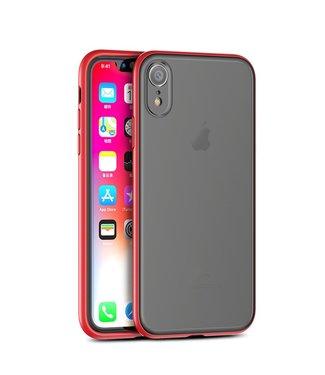 iPaky Quality hardcase iphone hoesje- Iphone XR - rood/zwart - Ipaky