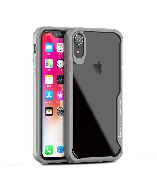 iPaky Hardcase Iphone Hoesje - Iphone XR - Grijs - Ipaky