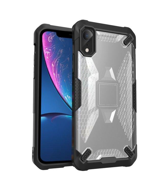 ZWC Hardcase Iphone Hoesje - Iphone XR - Zwarte omranding