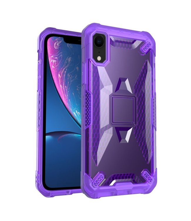 ZWC Hardcase Iphone Hoesje - Iphone XR - Paars