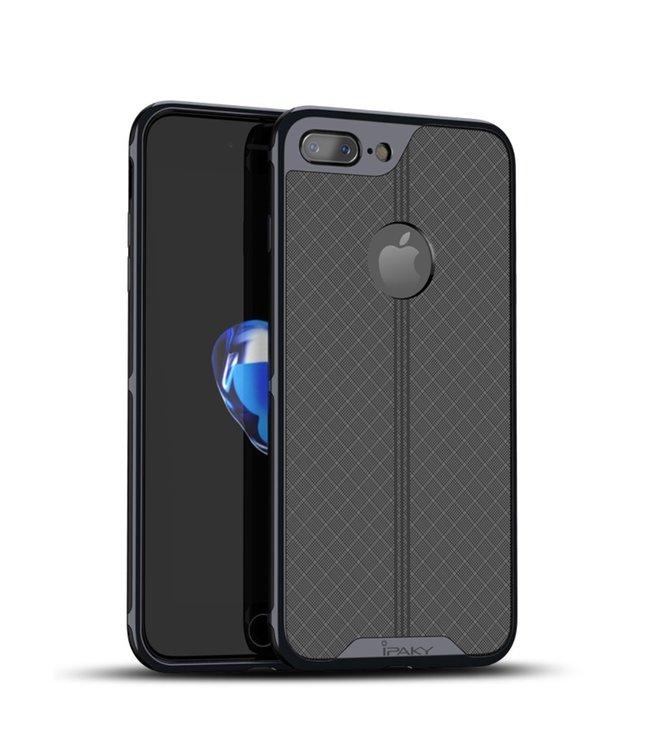 iPaky Electroplated Hardcase - Iphone 7plus/8plus - Zwart  - Ipaky