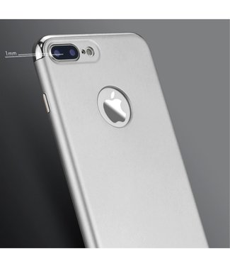 iPaky 3-in-1 Electroplated Hardcase - Iphone 7 plus  iphone 8 plus- Zilver - Ipaky