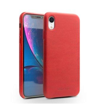 Qialino Leren Hardcase - Iphone XR Hoesje - Rood - Qialino