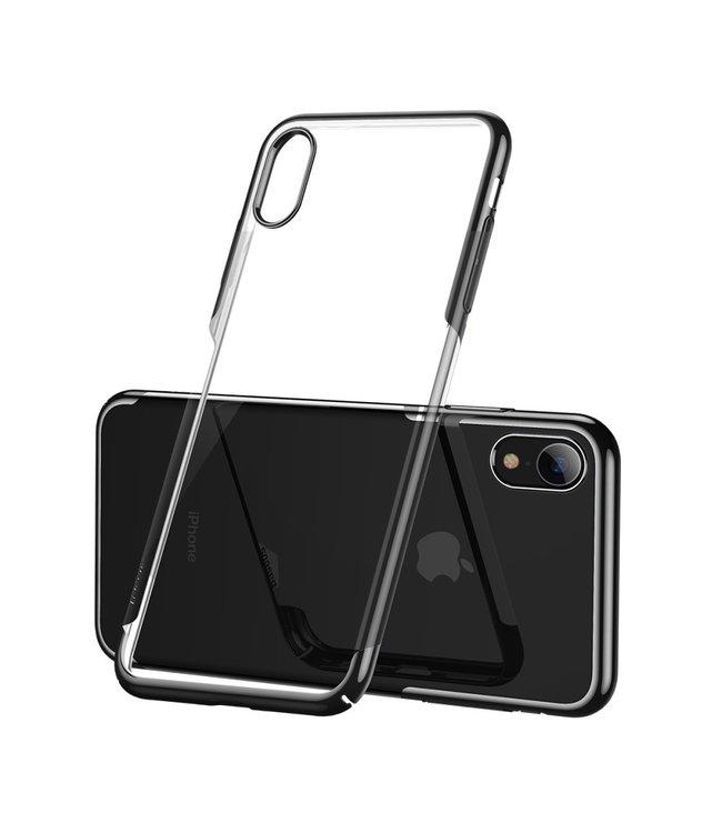 Baseus Hardcase - Iphone XR Hoesje - Zwarte Omranding - Baseus