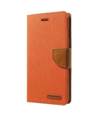 Goospery Canvas Diary Iphone Hoesje - Iphone 7Plus/8Plus - Oranje - Goospery