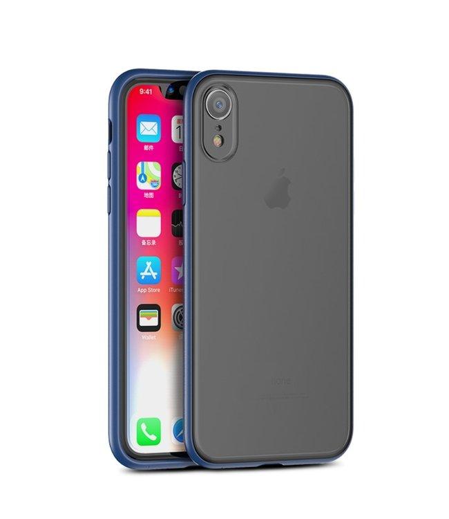 iPaky Quality Hardcase - Iphone XR Hoesje - Blauw - Ipaky