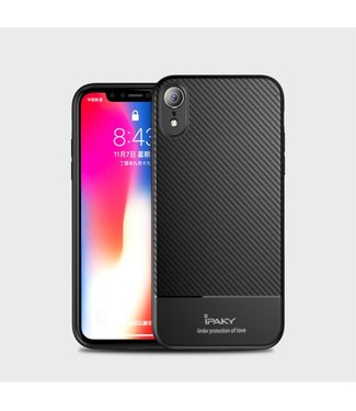iPaky Carbon Softcase - Iphone XR Hoesje - Zwart - Ipaky