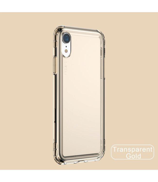 Baseus Airbag Softcase - Iphone XR Hoesje - Transparant goud - Baseus