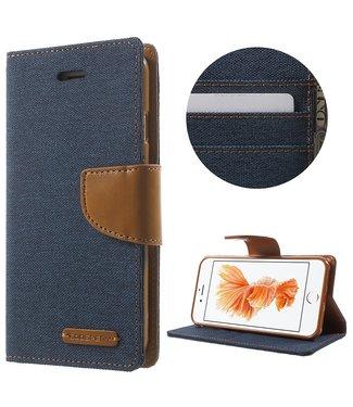 Goospery Canvas Diary - Iphone 7/8 - Marineblauw - Goospery