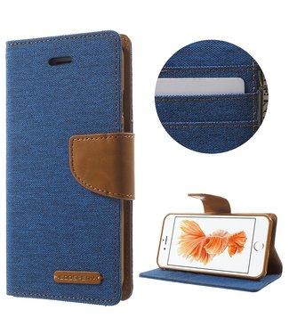 Goospery Canvas Diary - Iphone 7/8/SE 2020 - Blauw - Goospery