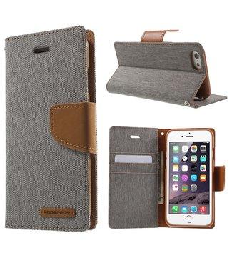 Goospery Canvas Diary - Iphone 6/S - Grijs - Goospery