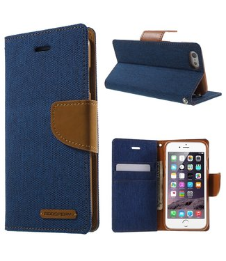 Goospery Canvas Diary - Iphone 6/S - Marineblauw - Goospery