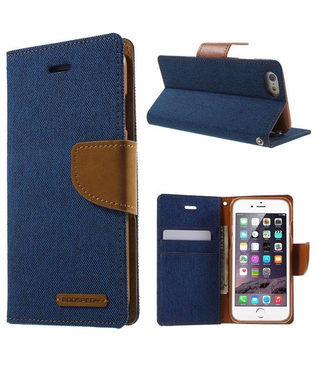 Goospery Canvas Diary - Iphone 6/S - Marineblauw - Goospery