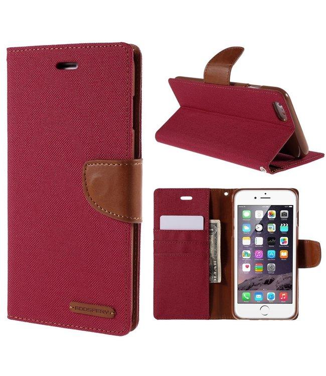 Goospery Canvas Diary - Iphone 6/S Plus - Rood - Goospery