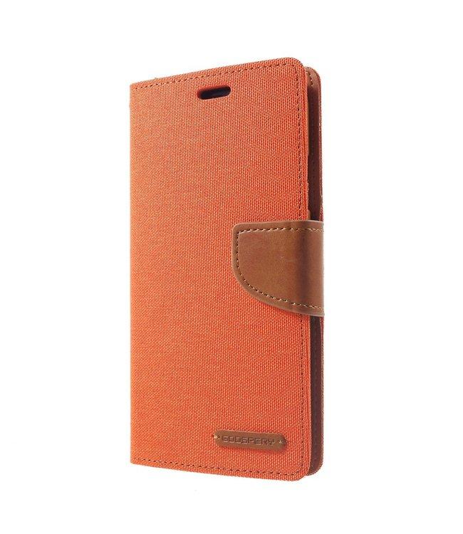 Goospery Canvas Diary - Iphone XR Hoesje - Oranje - Goospery