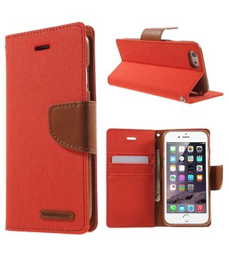 Goospery Canvas Diary - Iphone 6/S - Oranje - Goospery