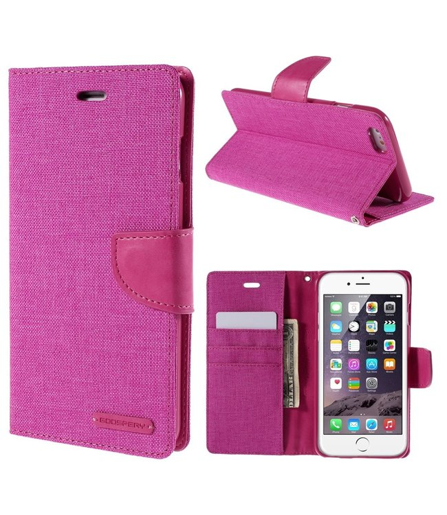 Goospery Canvas Diary - Iphone 6/S Plus - Roze - Goospery