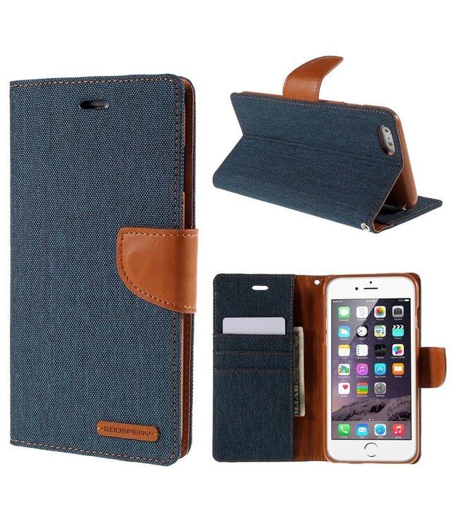 Goospery Canvas Diary - Iphone 6/S Plus - Marineblauw - Goospery