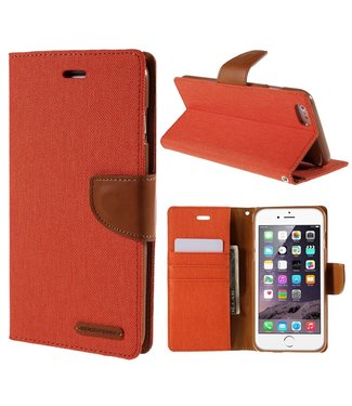Goospery Canvas Diary - Iphone 6/S Plus - Oranje - Goospery