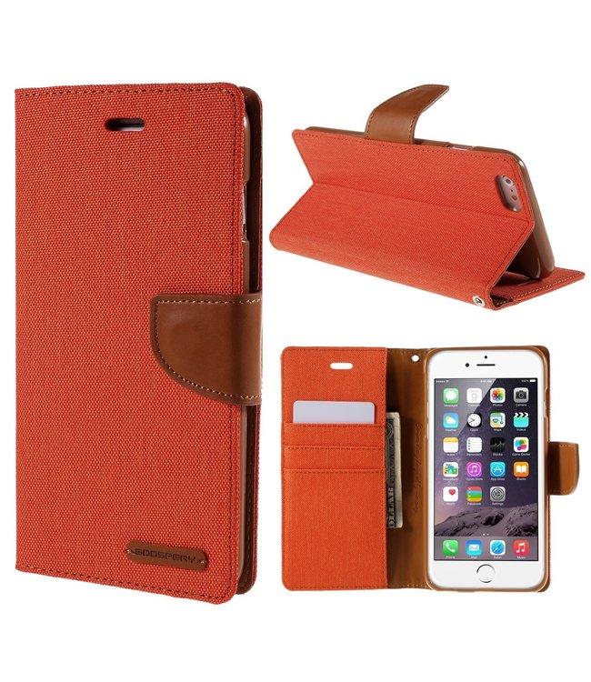 Goospery Canvas Diary - Iphone 6/S Plus - Oranje - Goospery