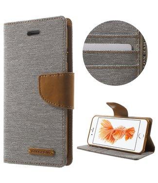 Goospery Canvas Diary - Iphone 7/8 - Grijs - Goospery