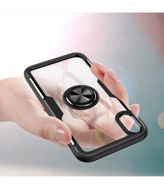 ZWC Ring Hardcase - Iphone XR Hoesje - Zwart