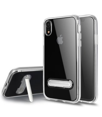 ZWC Hybrid Softcase  - Iphone XR Hoesje - Zilver