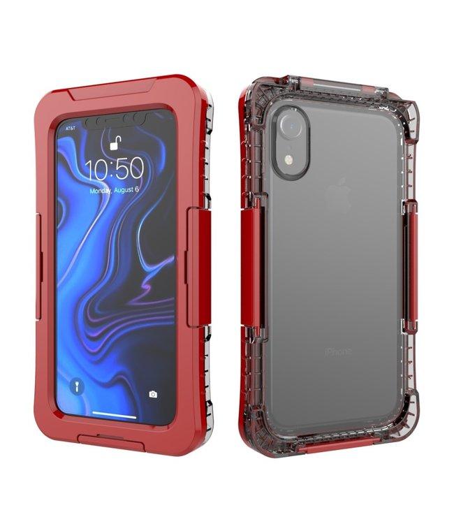 ZWC Waterproof Hardcase - Iphone XR Hoesje - Rood
