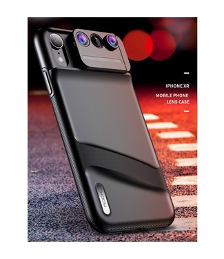 Rock 3 Lens Hardcase - Iphone XR Hoesje - Zwart - Rock