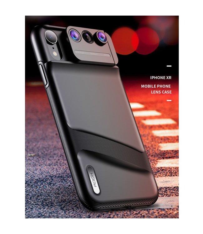 Rock 3 Lens Hardcase - Iphone XR Hoesje - Zwart - Rock