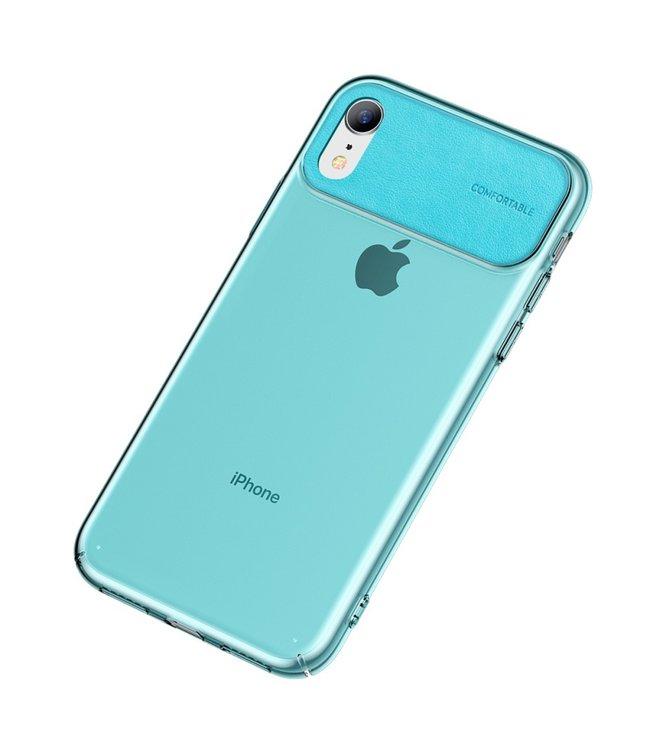Baseus Comfortabele Hardcase - Iphone XR Hoesje - Cyan - Baseus