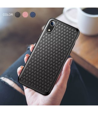 Baseus Weaving Softcase - iPhone XR Hoesje - Zwart