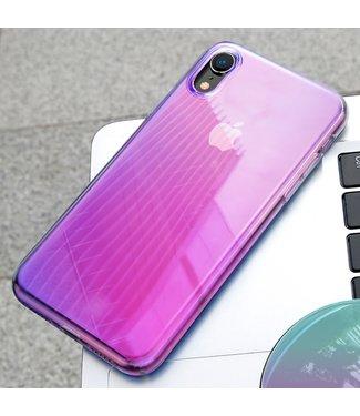 Baseus Glow Softcase - Iphone XR Hoesje - Roze - Baseus
