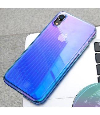 Baseus Glow Softcase - iPhone XR Hoesje - Blauw